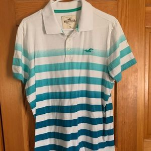 xl hollister polo striped shirt